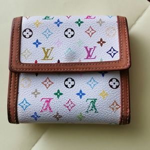 Auth.​LV​ multicolor​ short​ ​wallet